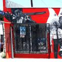 Iconic Black Panther Mural