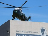 President Obama Lands at L.A. High to Attend a Fundraiser in Hancock Park