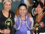 D.V. Lawrence, Grandmaster Moon, Theresa Green at Moo Sool Won Kung Fu Graduation